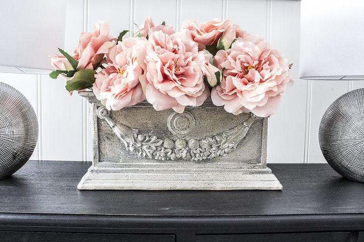 Blomsterkasse i antikk grå, Juliette - tilbud!