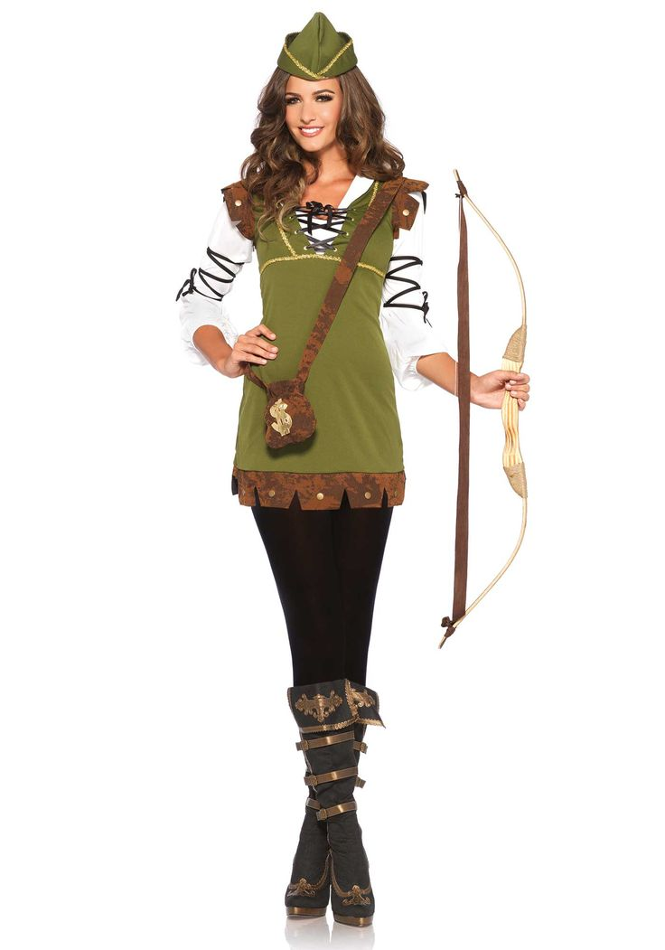 be the hero of nottingham in our adult classic robin hood costume womens robin hood costume includes dress hat and purse - Classic Womens Halloween Costumes