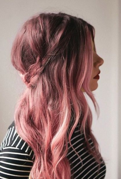 brown to pink ombre hair | These images were compiled from Pinterest for entertainment purposes