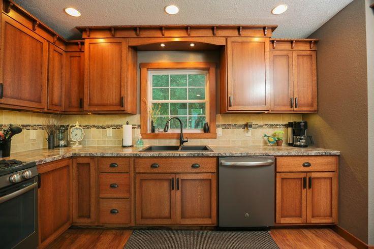 Quater Sawn Oak Craftsman Style Kitchen