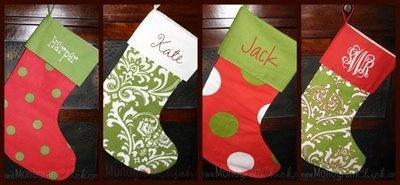 monogram stockings- adorable!