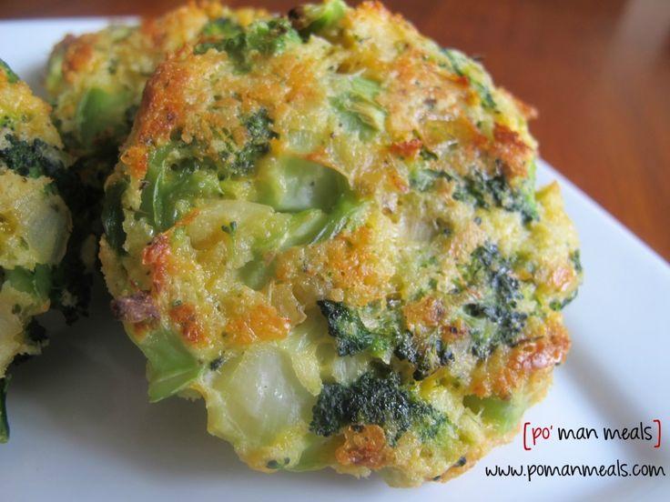 Po' Man Meals Cheesy Roasted Broccoli Patties!