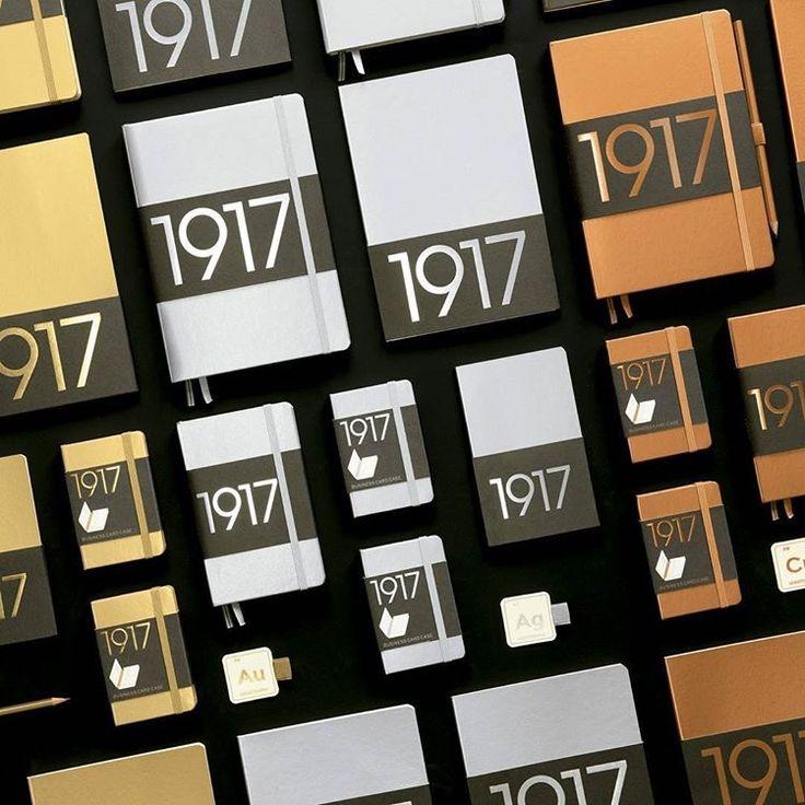 100 JAHRE LEUCHTTURM1917 ! Die Jubiläums- 1917 Metallic Edition in den Farben GOLD , SILBER und KUPFER ! Leuchtturm 1917 Planner in gold, silver, copper.