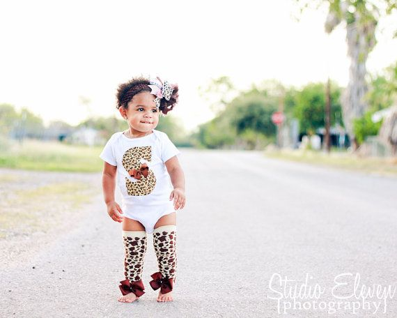 Baby Girl Outfit -- Over The Top Animal Print Outfit -- Leopard Print -- Over The Top Bow, Leg warmers and Initial Onesie on Etsy, $49.95