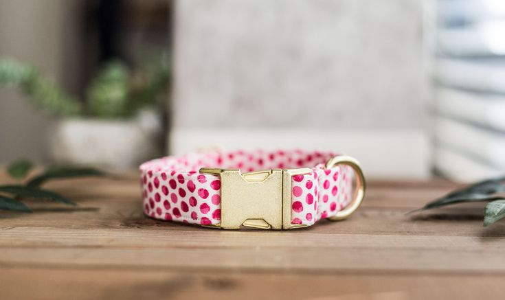 Dog Collar, Valentine's Day Collar, Pink Collar, Girl Collar, Cat Collar, Girly Collar, Pink Polka Dot Collar, Pink Collar by DesignsByWildside on Etsy https://www.etsy.com/listing/584316707/dog-collar-valentines-day-collar-pink