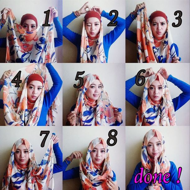 Beautiful Hijab Tutorial – 8 Steps