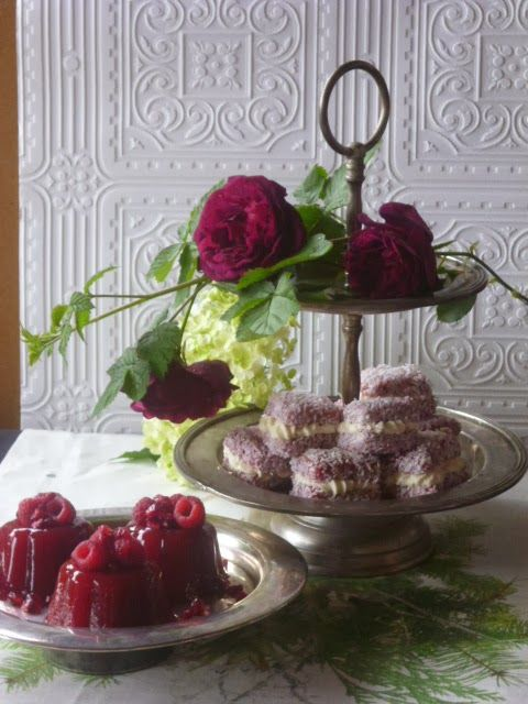Real Berry Jellies and Weak- at- the -Knees Lamingtons