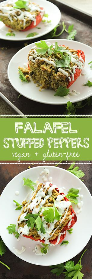 Falafel Stuffed Bell Peppers – The Fitchen