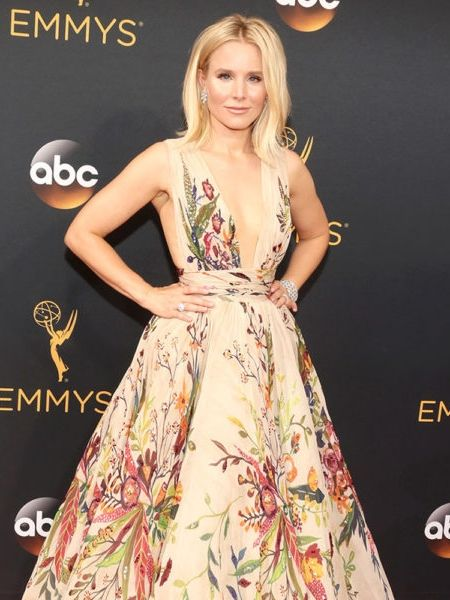 During live coverage of Emmy's arrivals, Giuliana Rancic complimented Kristen Bell on her scent... and she revealed she was wearing amber oil from Whole Foods - for $9 a bottle. Amber oil is great for its anti-aging benefits, and refreshing your skin or hair follicles.