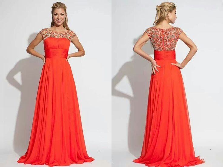 Pretty Modest Prom Dress