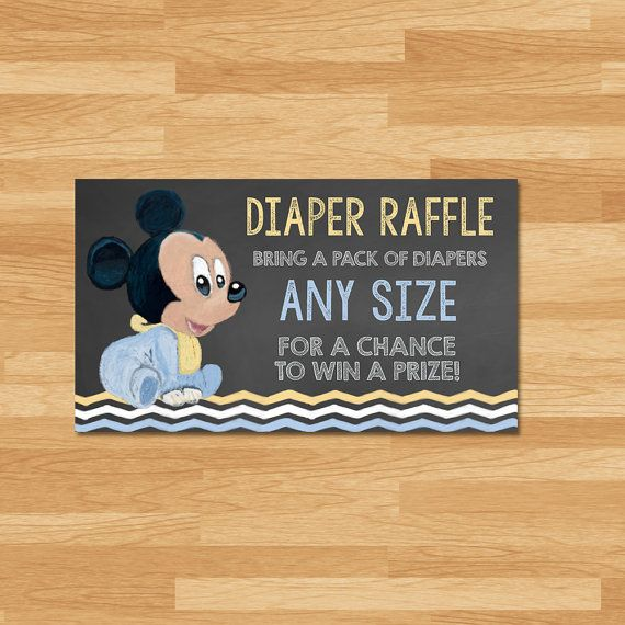 Baby Mickey Mouse Baby Shower Diaper Raffle by cupcakeconspiracies