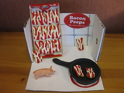 """""""Bacon Peeps"""" -- the best of both worlds: candy and bacon"""
