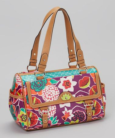 Take a look at this Purple Bouquet Satchel by Lily Bloom on #zulily today! $28 !!