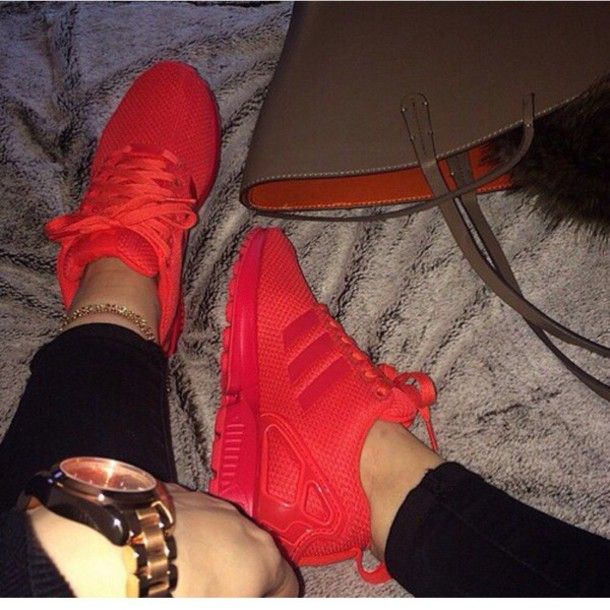 shoes red adidas shoes all red