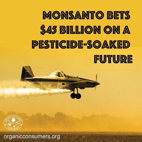 """Just when you thought Monsanto couldn't get more evil. The Biotech Bully has devised a dastardly plan to lie and cheat its way to more profits and power. How? By rebranding itself as a """"sustainable agriculture company.""""   #MonsantoMakesUsSick"""