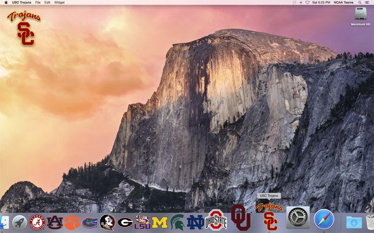 Front of the 2016 USC Trojans Football Schedule Mac App on your desktop  http://2thumbzmac.com/teamPages/USC_Trojans.htm