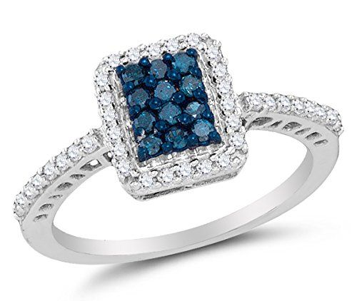 Size 5 – 10K White Gold Blue & White Round Diamond Halo Circle Engagement Ring – Channel Set Emerald Center Setting Shape (.45 cttw.) by Sonia Jewels - See more at: http://blackdiamondgemstone.com/colored-diamonds/jewelry/wedding-anniversary/engagement-rings/size-5-10k-white-gold-blue-white-round-diamond-halo-circle-engagement-ring-channel-set-emerald-center-setting-shape-45-cttw-com/#sthash.UA5hmRC0.dpuf