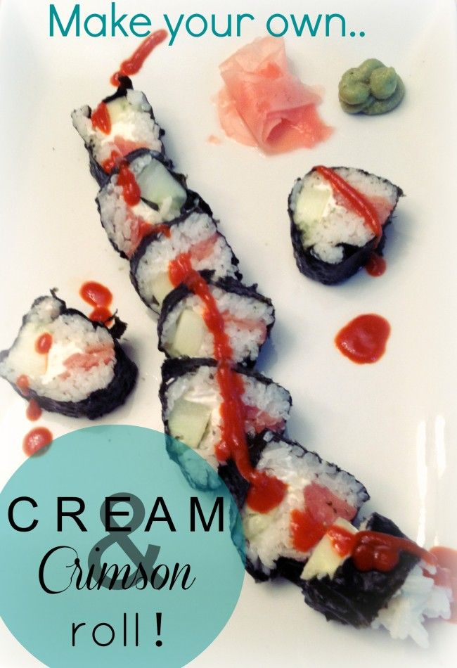 Make your own spicy Cream & Crimson sushi roll! #diy #howto