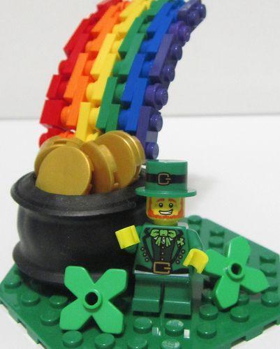 Happy St. Patrick's Day!  Cute Lego Decoration
