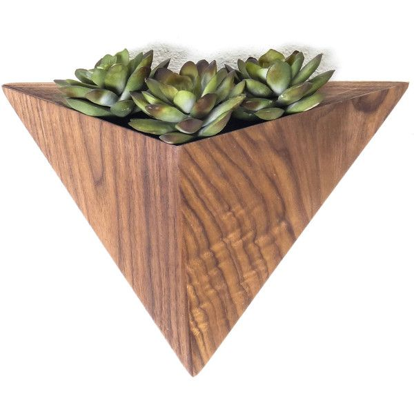 Geometric hanging Planter box, Triangular Indoor Planter, Wall Mounted... ($72) ❤ liked on Polyvore featuring home, home decor, small item storage, wall planter boxes, wall planters, wall home decor, interior wall decor and geometric home decor