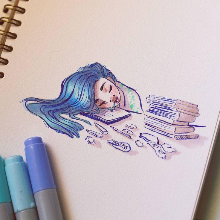 Прикольные рисунки с маркерами