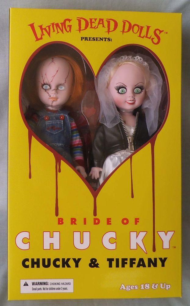 Mezco Living Dead Dolls Bride of Chucky CHUCKY & TIFFANY Boxed Set, MIB