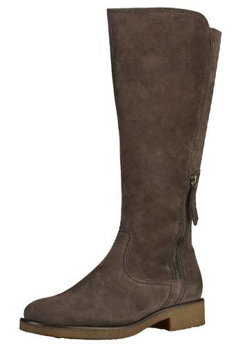 #GABOR #Damen #Stiefel #beige / #braun Toller Stiefel aus hochwertigem Leder von Gabor. Dieser Schuh besticht durch seine Schlichtheit und die wunderschöne Steppung an der Hinterseite des Schafts. Der Zierreißverschlusss an der Seite verleiht ihm einen zusätzlichen Schliff. Die Innensohle ist herausnehmbar.