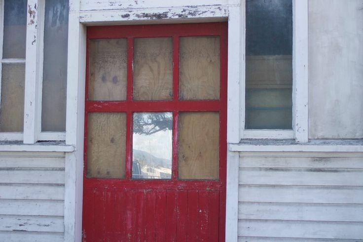 Red door at the fishing docks.  #Urban Decay #New Zealand #Napier