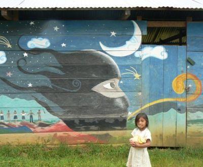 M xico chiapas escuela zapatista zapatista movement for Mural zapatista