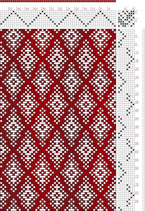 Hand Weaving Draft: Page 127, Figure 18, Donat, Franz Large Book of Textile Patterns, 8S, 8T - Handweaving.net Hand Weaving and Draft Archive - point draw