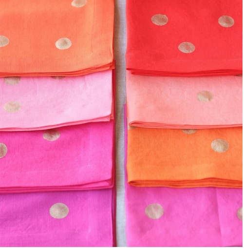 how to make your own kate spade style napkins {design mom}