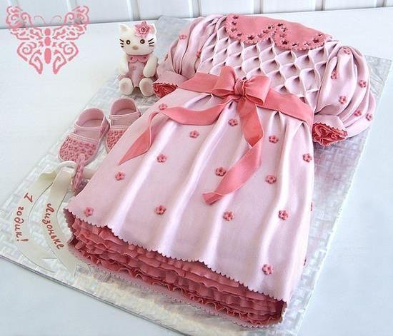 Детский торт платье мк