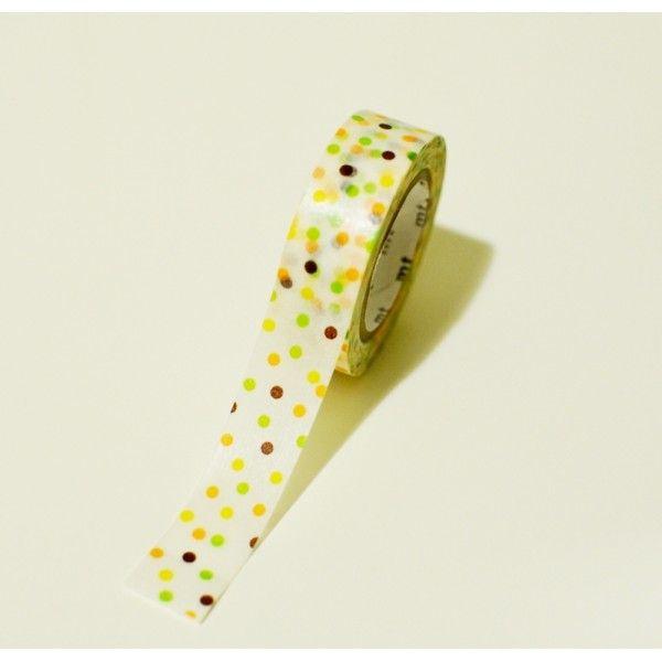 Washi páska v oranžových odstínech puntíčků. Rozměry: 15 mm x 10 m Made in Japan