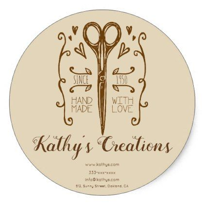 handmade small business promotion sticker - craft supplies diy custom design supply special