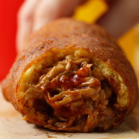 BBQ Chicken Corn Dogs by Tasty