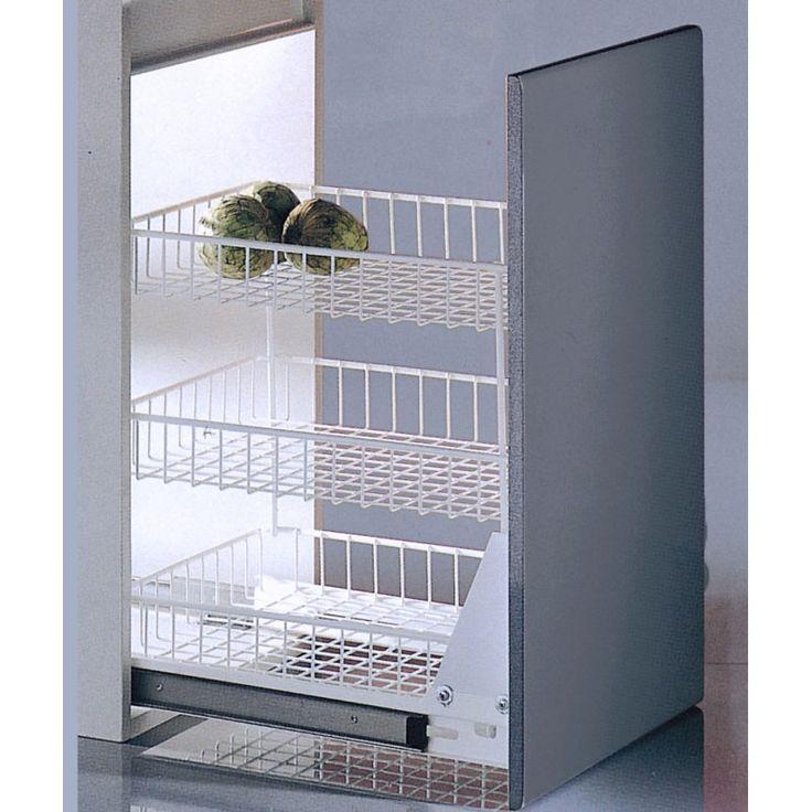 Modulo extraible 3 pisos blanco casaenorden te for Como montar muebles de cocina
