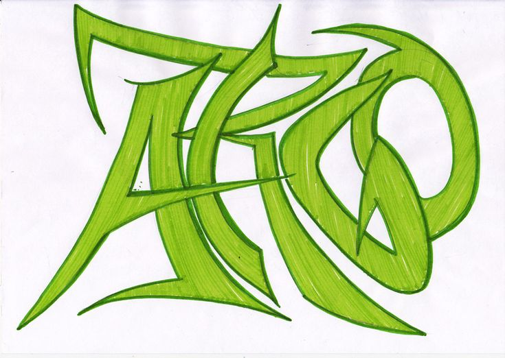 Как рисовать граффити для начинающих: Дикий стиль (Wild style). Новая школа Stabilo4kids.ru