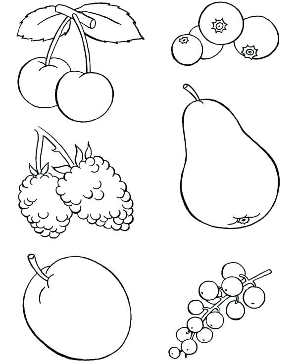Free Printable Fruit Coloring Pages For Kids Fruit Coloring Pages Food Coloring Pages Flower Coloring Pages