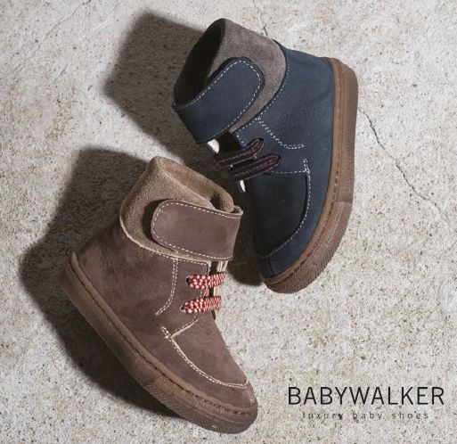 High top Booties handcrafted by BABYWALKER! #babywalker #babywalkershoes #kidsshoes #babyshoes #booties #vaptistika #papoutsia
