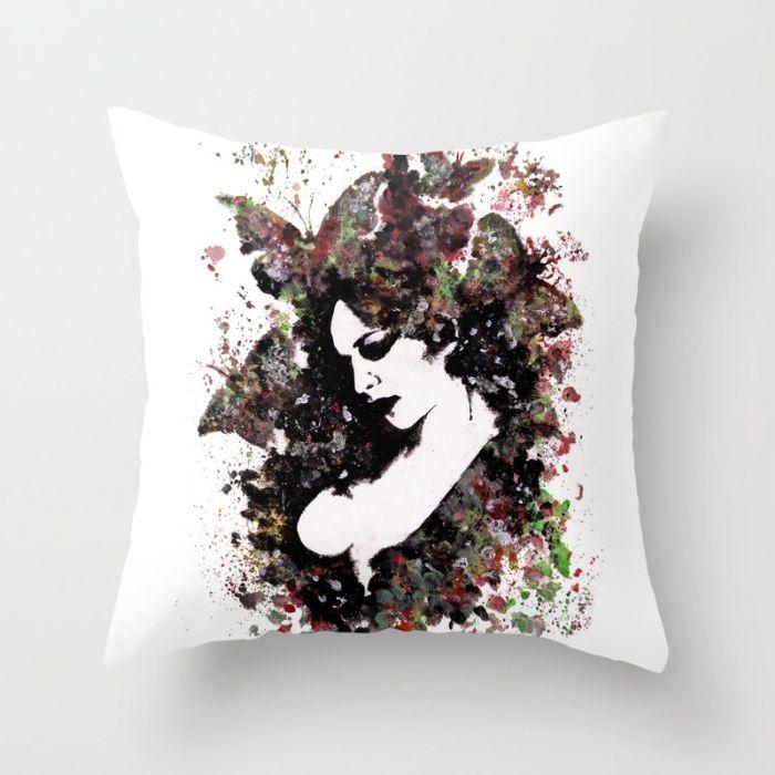 """A Hell To Pay"" throw pillow • SHOP: https://society6.com/product/a-hell-to-pay_pillow#25=193&18=126 • #art #drawing #society6 #facebook #etsyshop #butterflies #girl #print #prints #pillow #cuscino #stampa #ritratto #arte #farfalle #ragazza #throwpillow #graffiti #modernart #artforsale #kissmyart #abstract #surreal #etsy #society6 #illustration #portrait #femaleportrait #sexyillustration #homedecor #arredo"