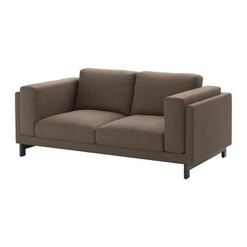 NOCKEBY Loveseat - Tenö brown, wood - IKEA