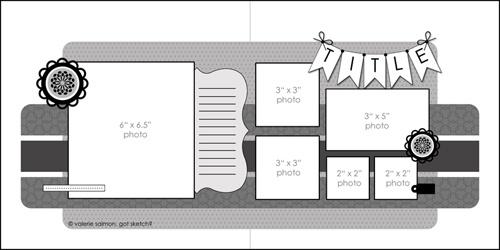 Got Sketch?: Sketches Revisited: Sketch 123: Scrapbook Ideas, 12X12 Sketch, Layout Sketch, Scrapbooksketch, Scrap Sketch, Scrapbook Layout, Scrapbook Sketch, Photos Layout, Sketch 123
