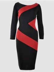 Appealing With Zips Patchwork Bodycon-dress