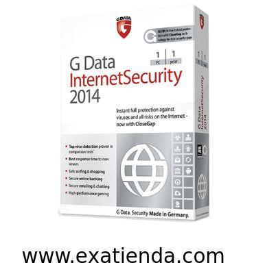 Ya disponible Antiv. gdata is 2014 1lc   (por sólo 34.99 € IVA incluído):   - GDATA Internet Security 2014 1PC (12 meses) - Protección inmediata y completa frente a virus y peligros de Internet - ahora con G Data CloseGap  - Maxima deteccion de virus, certificada en numerosas comparativas - La reaccion ms rapidada ante nuevos virus - Navegacion y compras seguras - Banca online segura - Correo y chasts seguros - Alto rendimiento en juegos online  - Nuevo! G Data CloseGap