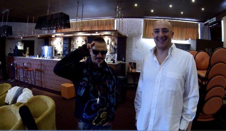 """Mister Amaro di Leuca Saverio Scattaglia e Antonio Da Costa - sul set di """" Colpa di Alfredo """" tv show..."""