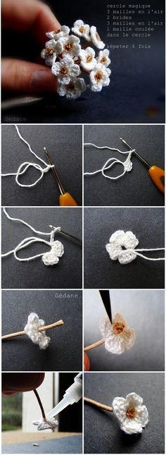 Ramito de flores crochet con fotos ❥Teresa Restegui http://www.pinterest.com/teretegui/ ❥