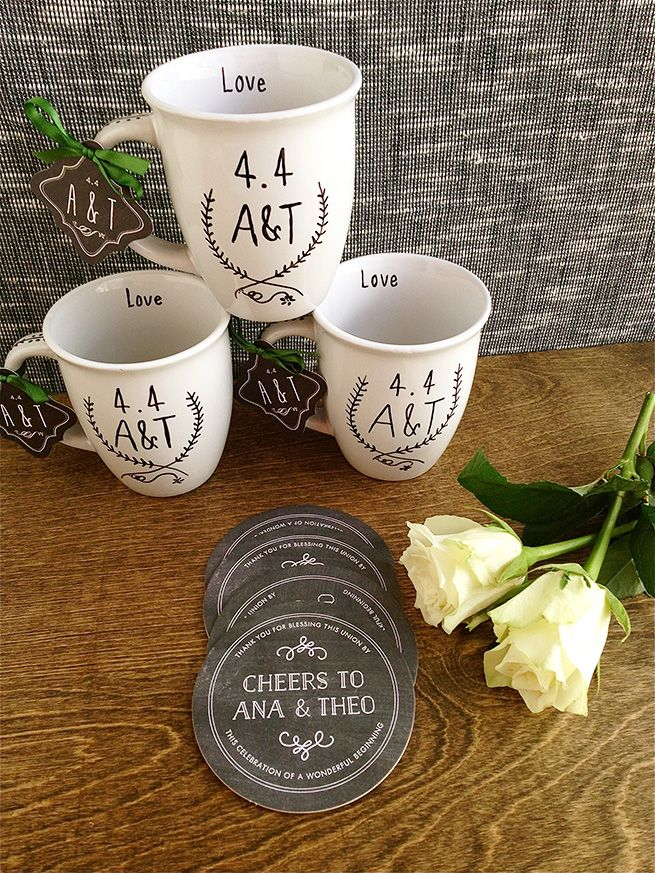 Wedding Favor Personalized Coffee Mugs | Personalized wedding favors ...
