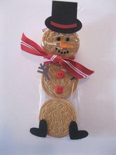 stampin king: Snowmen class treats - use white chocolate covered oreos!