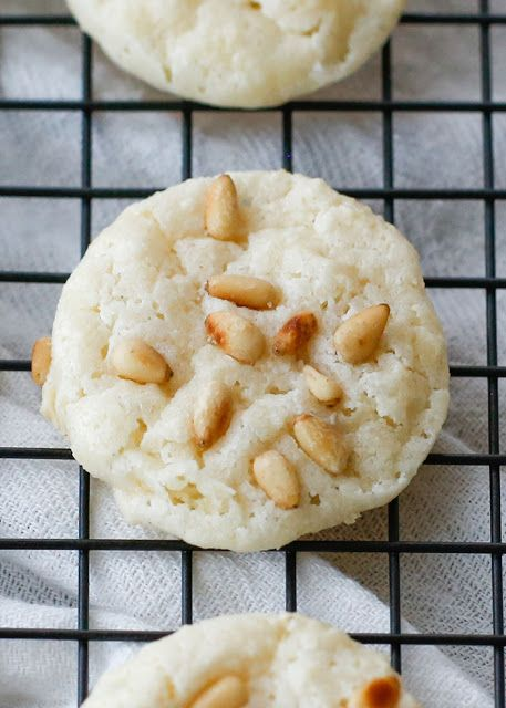 Italian Pignoli Cookies (aka Pine Nut or Pinon Cookies) - get the recipe at barefeetinthekitchen.com