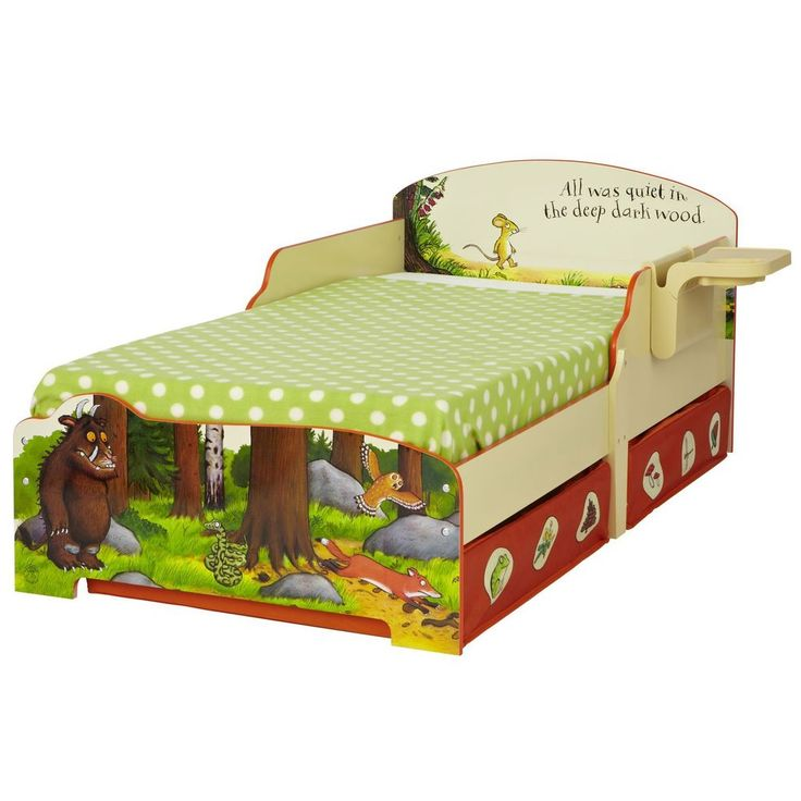 THE GRUFFALO TODDLER BED WITH SHELF & STORAGE NEW
